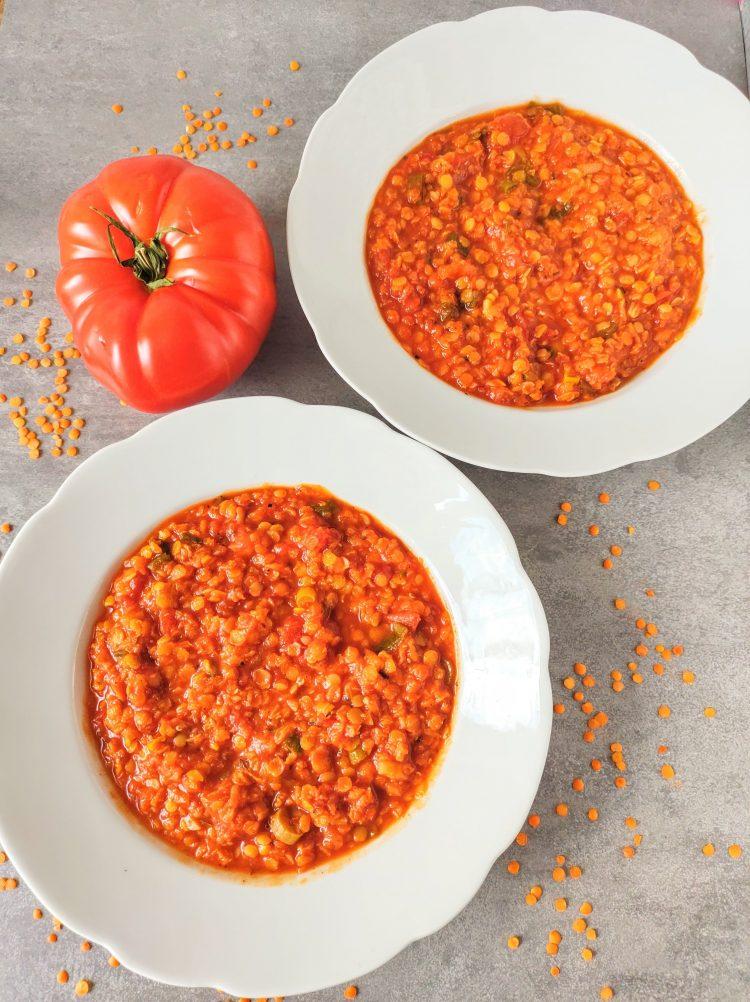 libańska zupa z soczewicy czerwonej